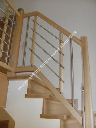 betontreppe mit buchenstufen belegt gel nder mit holz edelstahl. Black Bedroom Furniture Sets. Home Design Ideas